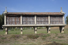Horreo традиционная конструкция, который нужно держать сжало зерно в северной Испании Стоковые Фото