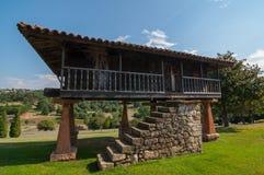 Horreo- Asturian spannmålsmagasin Royaltyfri Fotografi