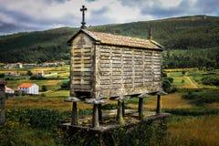 Horreo cantabrico Galicia arkivbilder