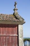 Horreo en traditionell konstruktion som ska hållas, skördade korn i nordliga Spanien Royaltyfria Foton