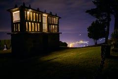 Horreo från Viveiro, Galicia arkivfoto