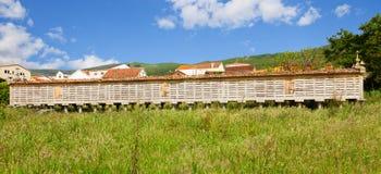 Horreo (granary) of Carnota village Royalty Free Stock Image