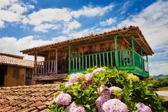 Horreo i Asturias Arkivbild