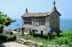 Horreo by the sea Stock Photography