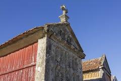 Horreo: stara śpiżarnia dla karmowej konserwaci Galicia Hiszpania Fotografia Stock