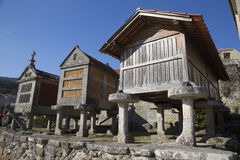 Horreo a traditional construction to keep harvested grain in northern Spain Stock Image