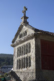 Horreo a traditional construction to keep harvested grain in northern Spain Stock Photo