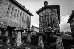 Horreos σε Lindoso - την Πορτογαλία Στοκ Φωτογραφίες
