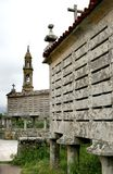 Horreos of Carnota, granaries in north west Spain Royalty Free Stock Photo