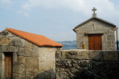 Horreos di Combarro, Pontevedra, Spagna Fotografia Stock