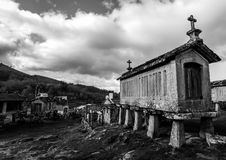Horreos - Lindoso - Portugal Stockfoto