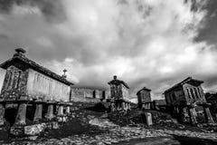 Horreos - Lindoso - Portugal Royalty-vrije Stock Foto's