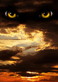 Horreur dans la nuit Image libre de droits