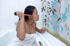 Horreur dans la salle de bains Photos libres de droits