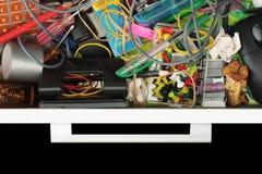 Horreur de tiroir de papeterie Photographie stock