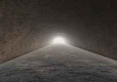 Horrible Cave Rock stone tunnel A Stock Images
