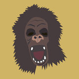 Horrible gorilla head Stock Photography