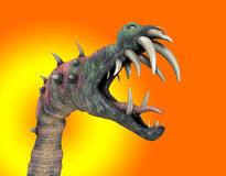 Horrible Halloween Monster. A horrible monster with a big mouth for Halloween Royalty Free Stock Photography