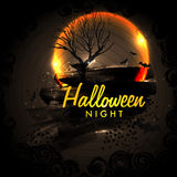 Horrible night view for Halloween Party. Stock Photo