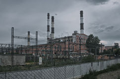 Horrible power plant Royalty Free Stock Images