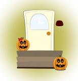 Horrible pumpkin. Fearful pumpkin wait you in Halloween Royalty Free Stock Photography
