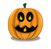 Horrible pumpkin Stock Image