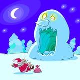 Horrible Snowman Royalty Free Stock Photos