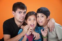 Horrifed Kids Royalty Free Stock Image