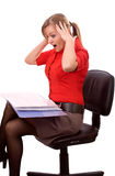 Horrified business woman Stock Images