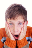 Horrified child Royalty Free Stock Image