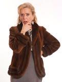 Horrified elegant lady, Royalty Free Stock Images