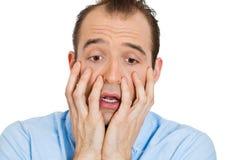 Horrified man Stock Image