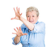 Horrified old woman Royalty Free Stock Images