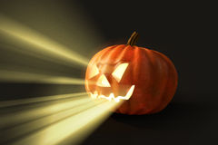 Horrifying helloween pumpkin. Horrifying and glowing helloween pumpkin Royalty Free Stock Photos
