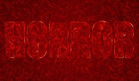 Horror. Abstract Horror illustration in blood look Royalty Free Stock Photo