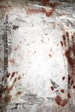 Horror background. With grungy frame, bloody handprints, remains of scotch tape and cellophane. Vertical background fully . It can be used as a party invitation Royalty Free Stock Photos