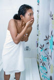 Horror in bathroom. Stock Images