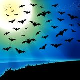 Horror bats full moon background Royalty Free Stock Photos