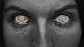 Horror blindness. Macabre face with blind eyes Royalty Free Stock Images