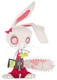 Horror bunny Royalty Free Stock Image