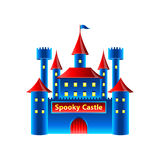 Horror castle isolated on white vector Stock Photo