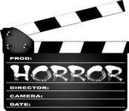 Horror Clapperboard Stock Photos