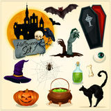 Horror decoration elements for Halloween design Stock Photography