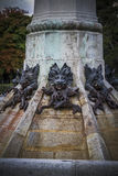 Horror, devil figure, bronze sculpture with demonic gargoyles an. D monsters Stock Photo