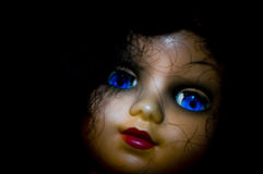 Horror doll portrait. Old doll portrait in horror way Stock Photos