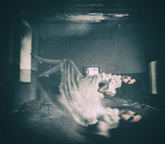 Horror dziewczyna Zdjęcia Stock