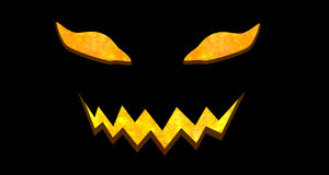Horror face of halloween with clipping path Royalty Free Stock Image