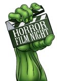 Horror Film Night Zombie Monster Clapper Board Royalty Free Stock Images