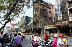 Horror fire, residence Ho Chi Minh city Royalty Free Stock Image