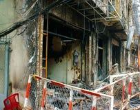 Horror fire, residence Ho Chi Minh city Stock Photography